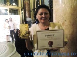 Ionica Taru - Diploma si Trofeul Galei