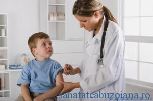 Boy Receiving Vaccine