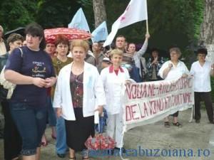 20 de protestatari sunt  din Buzau