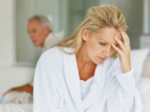 Mature woman in conflict with husband