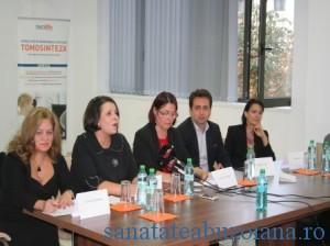 Dr.Cornelia Scarlatescu, dr. Lygia Alexandrescu, Cornelia Popa Stavri, dr. Claudiu Tronciu, dr. Natalia Cucu (de la stanga la dreapta)