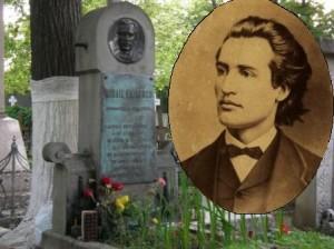 Eminescu tanar  si mormantul poetului