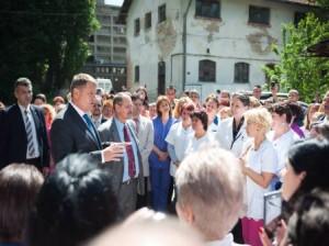 Presedintele Iohannis, la Cantacuzino