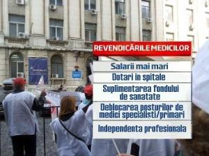 medici revendicari greva