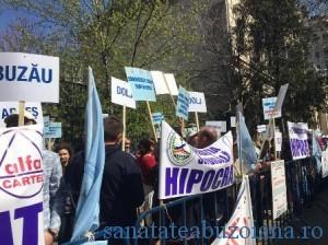 protest medici buzau