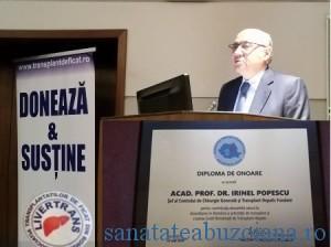 Prof.Dr. Irinel Popescu - Ziua Transplantului