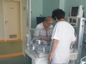 primul nou-nascut in noua maternitate