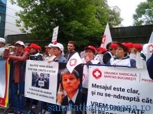protest Sanitas - Ministerul Muncii