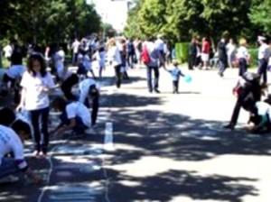 ziua copilului desene pe asfalt