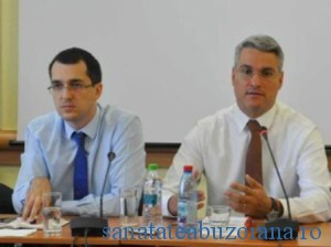 Ministrii Vlad Voiculescu si Dragos Pislaru