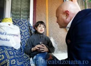 unul dintre copiii sirieni refugiati