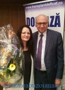 """Maria Timuc si """"eroul"""" cartii, Dr. Irinel Popescu"""